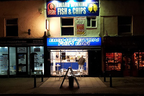 A chip shop in Bishopston.